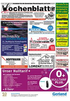 Gratiszeitungen, Titel Wochenblatt Westerkappeln