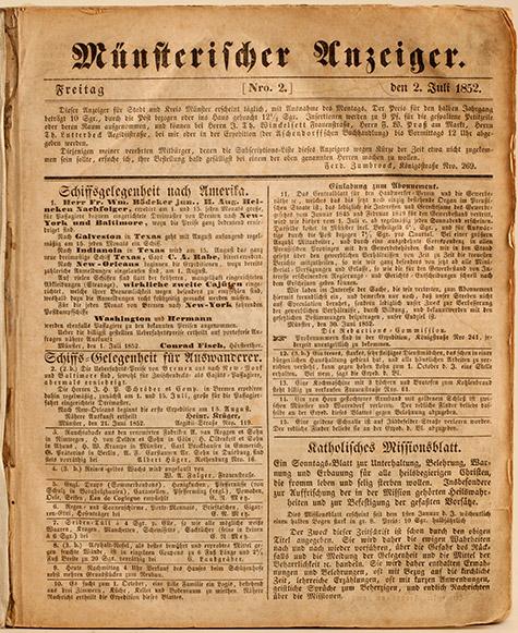 Unternehmensgruppe Aschendorff, Historie, Titelseite Münsterischer Anzeiger