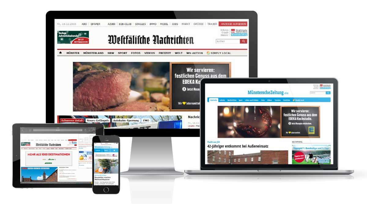Zeitungsgruppe Münster, Online-Mediadaten 2017
