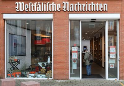Aschendorff Service Center, Geschäftsstelle und WN-Ticket-Shop Münster